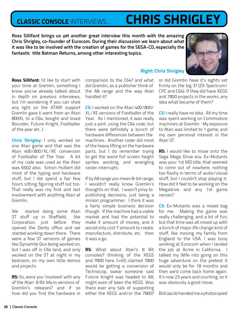 CCM - Chris Shrigley Interview - Page 1