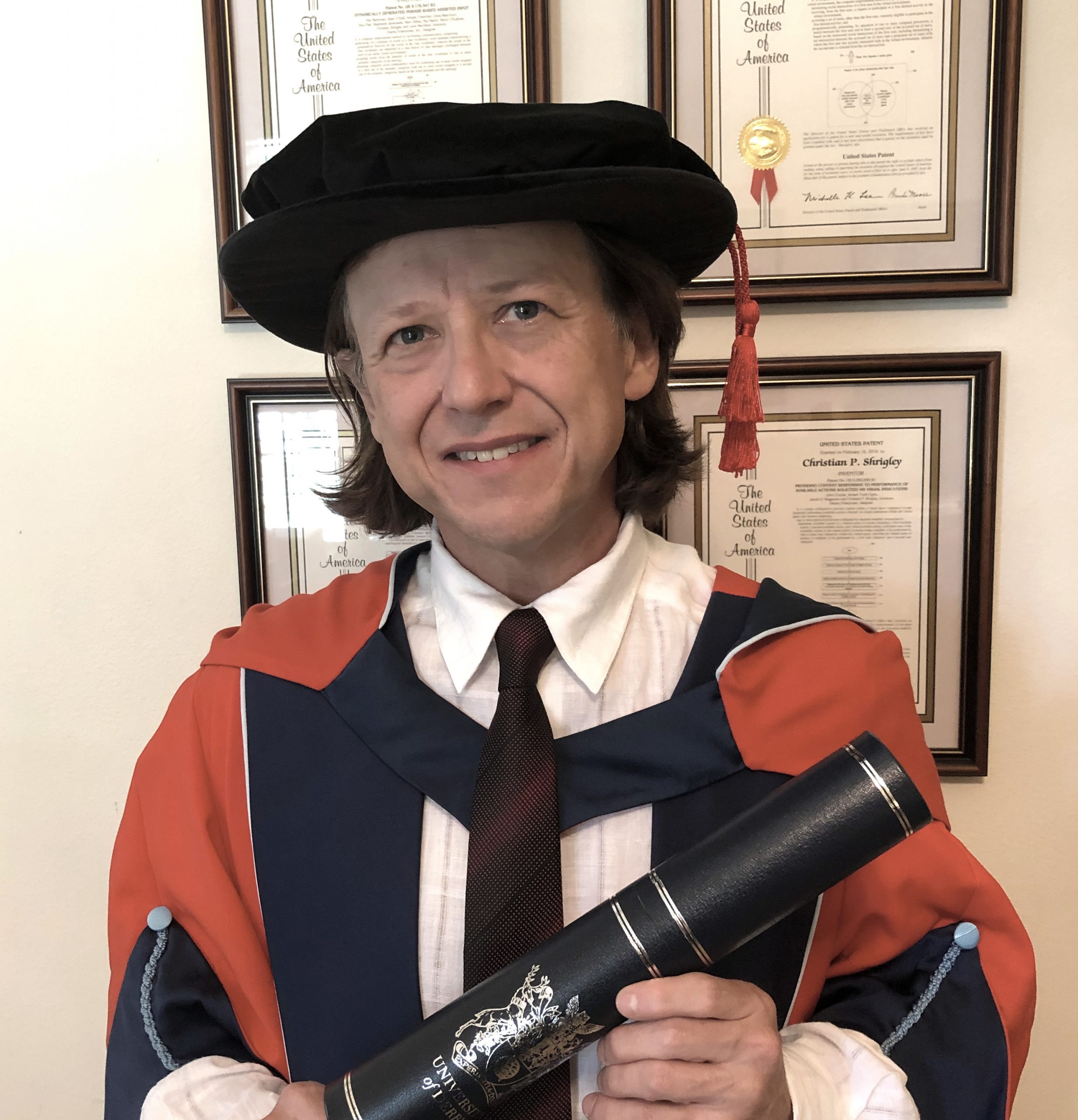 Chris Shrigley Honorary Doctorate